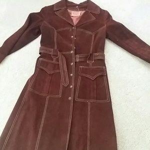 Winlit suede trench coat